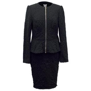 Wolford Black Textured Skirt and Matching Jacket