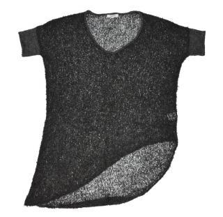 Helmut Lang Bare Boucle Knit Grey Alpaca Oversize Sweater