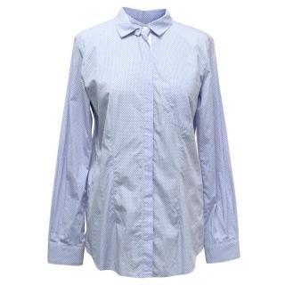 Golden Goose Deluxe Light Blue Polka Dot Shirt