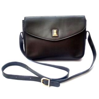 Burberry / Burberry's Black Leather Shoulder/ Crossbody bag.