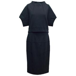 Amanda Wakeley Navy Skirt and High Neck Top