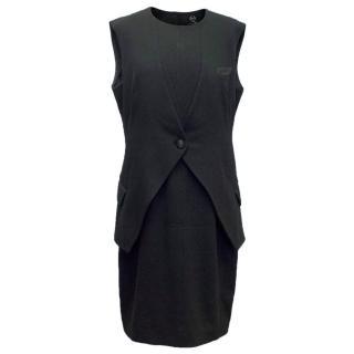 McQ Alexander McQueen Black Tuxedo Dress