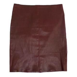 Jitrois Oxblood Leather Mini Skirt