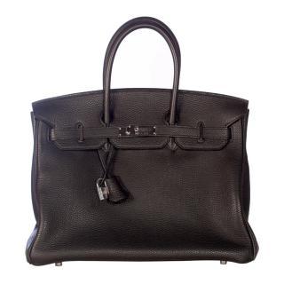 Hermes Birkin Black 35 cm PHW Togo
