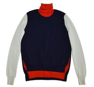 CELINE colorblock Wool Sweater