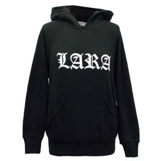 Frame 'Lara Stone' Black Sweatshirt with White Graphic Print