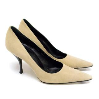 Dolce and Gabbana Nude Suede Pumps