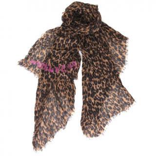 Louis Vuitton cashmere leopard stole