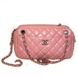 CHANEL Pale Pink Lambskin Shoulder Bag