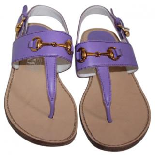 GUCCI Girl's Lilac Sandals
