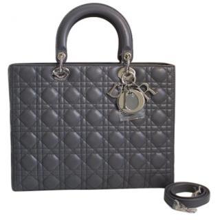 CHRISTIAN DIOR  Lady Dior Silver Sorbet Bag