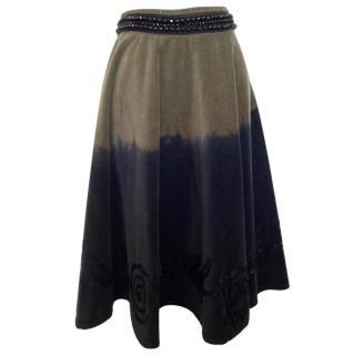 GaetanoNavarra full skirt with applique flowers