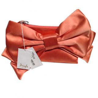 Pringle of Scotland Silk Bow Clutch