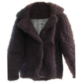 Sandro purple faux  fur jacket