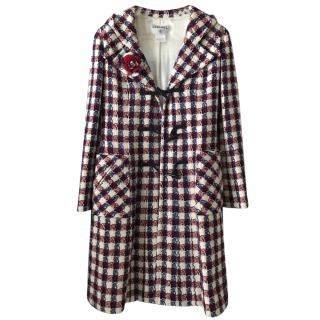 Chanel hooded wool coat