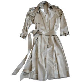 KRIS VAN ASSCHE Silk trench coat-dress