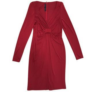 Elie Saab red cocktail dress