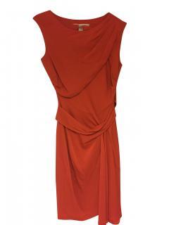 DVF orange silk shift dress (size 4 US/8 UK)