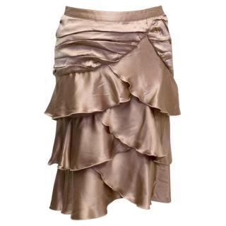 Blumarine Nude Ruffle Skirt