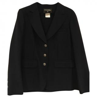 Chanel dark blue wool jacket