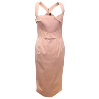 Roland Mouret Pink Fitted Dress