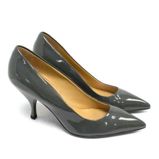 Miu Miu Olive Green Court Shoes