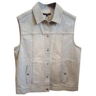 Tibi Vintage Washed Denim Vest