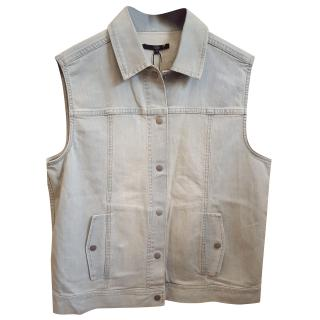 Tibi Vintage Washed Denim Vest