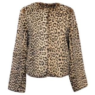Blumarine Leopard Print Faux Fur Jacket