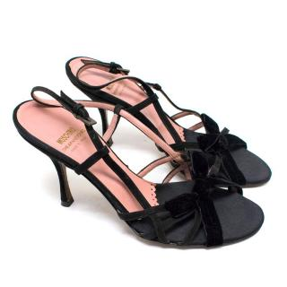 Moschino Love Black Strappy Sandals