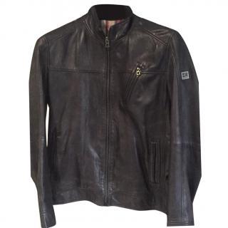 Hugo Boss Orange label leather jacket
