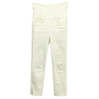 Isabel Marant Cream High-Waisted Pants