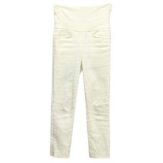 Isabel Marant Cream High-Waisted Pants