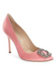 Manolo blahnik peach heels
