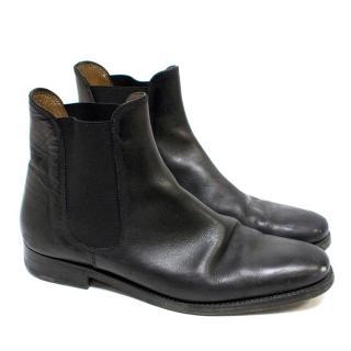 Ralph Lauren Black Leather Chelsea Boots