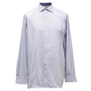 Ermenegildo Zegna Blue Stripped Shirt