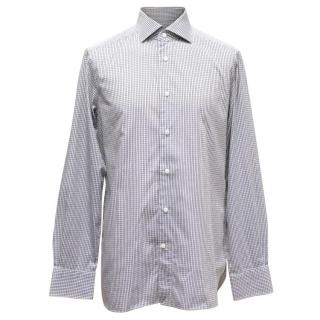 Ermenegildo Zegna Grey Check Shirt