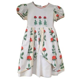 Christian Dior rose print dress age 4 years