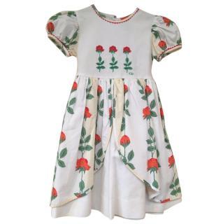 Christian Dior rose print dress age 4 years