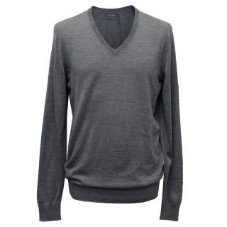 Falconeri Grey V-Neck Sweater