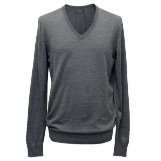 Falconeri Grey V-Neck Sweater