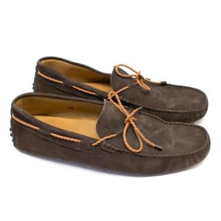Tod's Brown Leather Driving Shoes