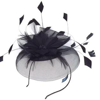 Tit Fer Tat Black Feather Fascinator