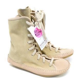 See By Chloe Tan Lace-Up Boots