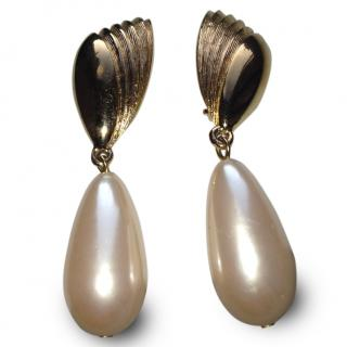 Givenchy Paris Couture Pearl Drop Earrings