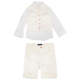 Carlo Pignatelli Cream Boys Suit