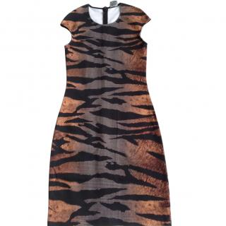 MCQ Alexander McQueen tiger tartan body con dress