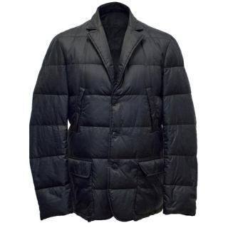 Dunhill Navy Quilted Goose Down Jacket
