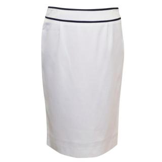 Moschino White Pencil Skirt
