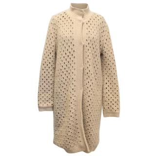 M Missoni Nude Knitted Long Cardigan